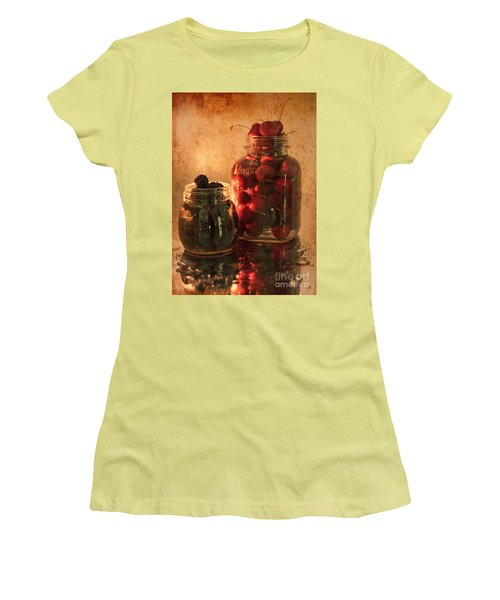 Memories Of Jams, Preserves And Jellies  Women's T-Shirt (Junior Cut) by Sherry Hallemeier