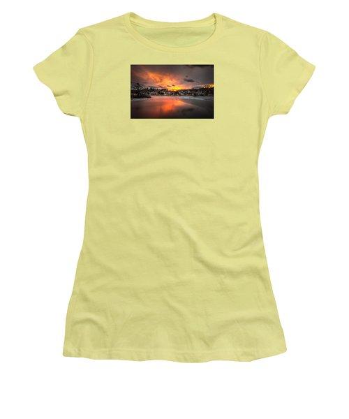 Meredith Sunset Women's T-Shirt (Junior Cut) by Robert Clifford