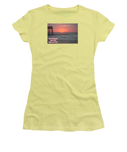 Merry Christmas Sunrise  Women's T-Shirt (Junior Cut)