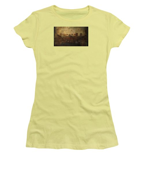 Merry Christmas Women's T-Shirt (Junior Cut) by Vittorio Chiampan