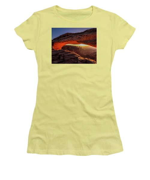 Mesa Arch At Sunrise 1, Canyonlands National Park, Utah Women's T-Shirt (Athletic Fit)