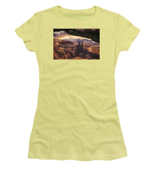 Women's T-Shirt (Junior Cut) featuring the photograph Mesa Arch by James Bethanis