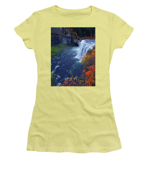 Mesa Falls In The Fall Women's T-Shirt (Athletic Fit)