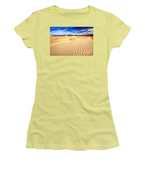 Mesquite Flat Sand Dunes In Death Valley Women's T-Shirt (Athletic Fit)