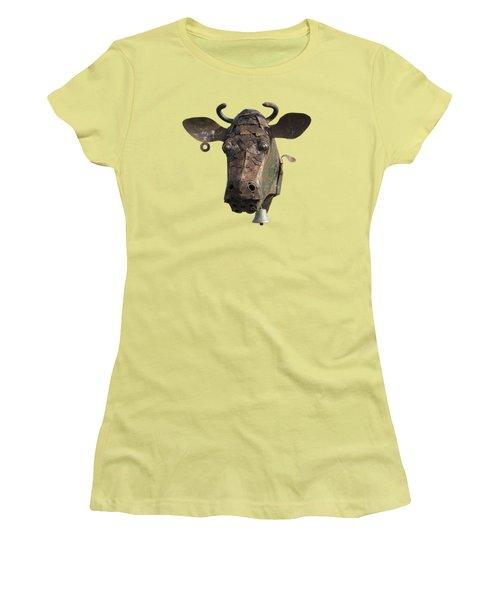 Metal Art Cow II Women's T-Shirt (Athletic Fit)
