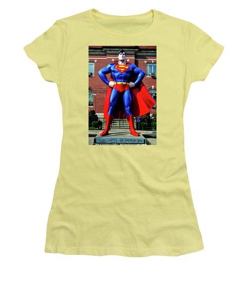 Metropolis - Home Of Superman 001 Women's T-Shirt (Junior Cut) by George Bostian