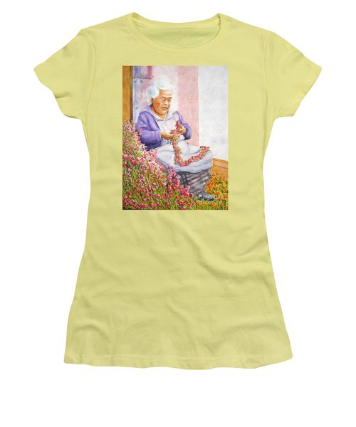 Mexican Flower Women's T-Shirt (Athletic Fit)