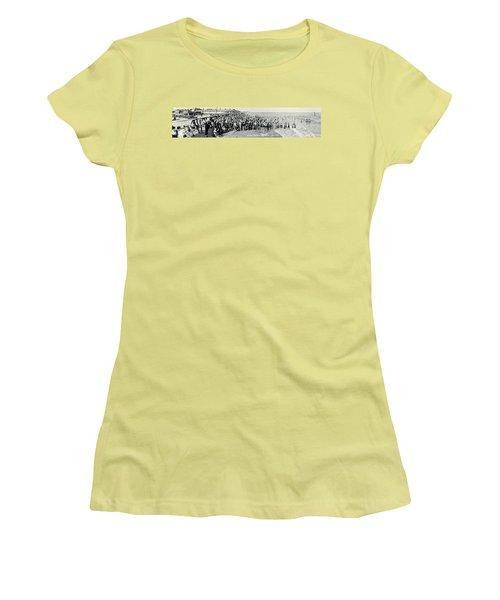 Miami Beach Sunbathers 1921 Women's T-Shirt (Junior Cut) by Jon Neidert