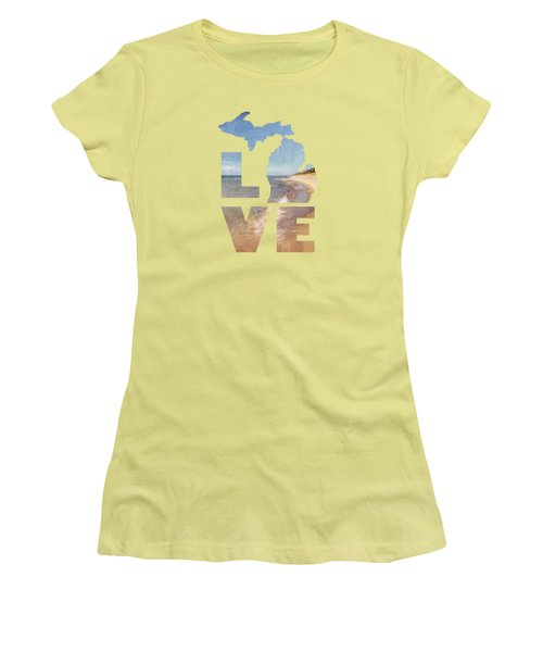 Michigan Love Women's T-Shirt (Athletic Fit)