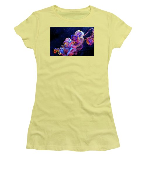 Micro Space - Colorful Abstract Photography Women's T-Shirt (Athletic Fit)