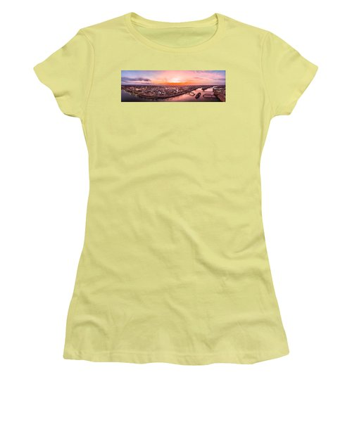 Women's T-Shirt (Junior Cut) featuring the photograph Middletown Connecticut Sunset by Petr Hejl