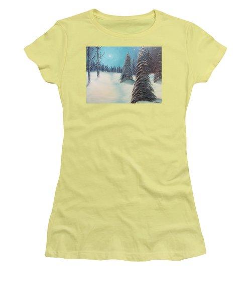 Midnight Silence Women's T-Shirt (Junior Cut) by Thomas Janos