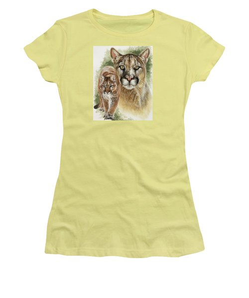 Women's T-Shirt (Junior Cut) featuring the mixed media Mighty by Barbara Keith