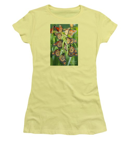 Migration Of Monarchs Women's T-Shirt (Athletic Fit)