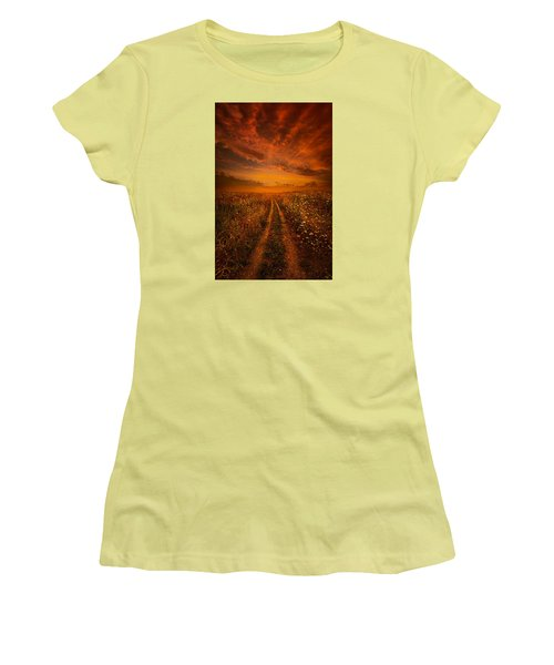 Miles And Miles Away Women's T-Shirt (Junior Cut) by Phil Koch