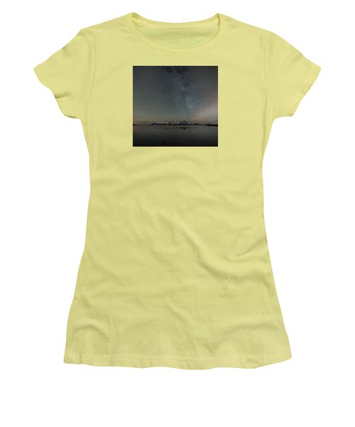 Milky Way And Northern Lights I Women's T-Shirt (Athletic Fit)