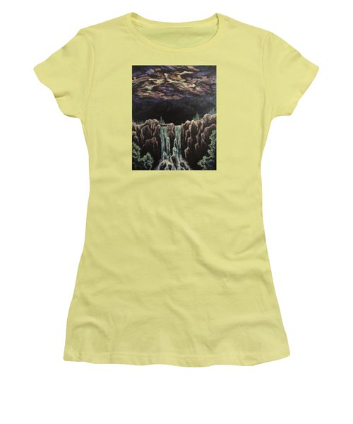 Women's T-Shirt (Junior Cut) featuring the painting Milkyway by Cheryl Pettigrew