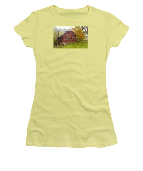 Women's T-Shirt (Junior Cut) featuring the photograph Mill In Autumn by Tom Singleton
