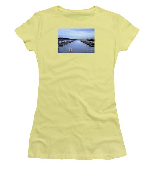 Milwaukee Marina November 2015 Women's T-Shirt (Junior Cut) by David Blank