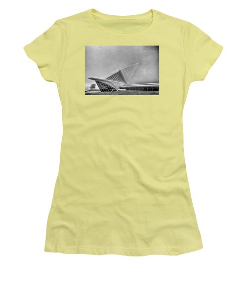 Women's T-Shirt (Junior Cut) featuring the photograph Milwaukee Museum Of Art Special 2 by David Haskett