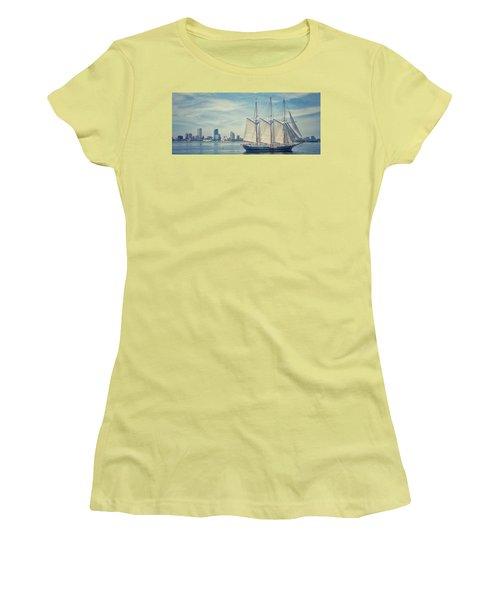Milwaukee Schooner Women's T-Shirt (Junior Cut) by Nikki McInnes