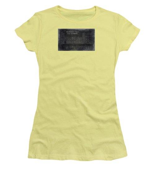 Minimalist Periodic Table Women's T-Shirt (Junior Cut) by Daniel Hagerman