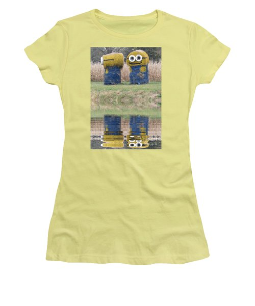 Minions In A Reflection Pool Women's T-Shirt (Athletic Fit)