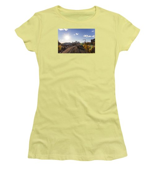 Minneapolis In The Fall Women's T-Shirt (Junior Cut) by Zach Sumners