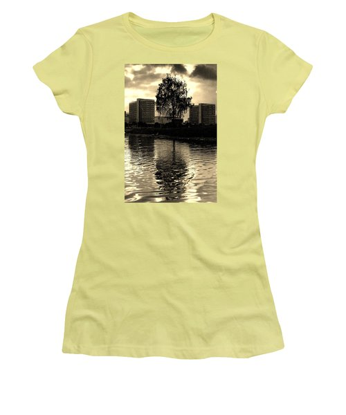 Minsk Dramatic View Women's T-Shirt (Junior Cut) by Vadim Levin