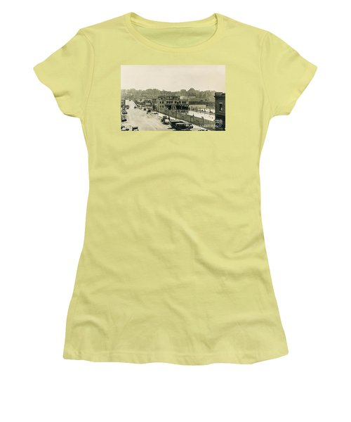 Women's T-Shirt (Athletic Fit) featuring the photograph Miramar Pool, 1927 by Cole Thompson