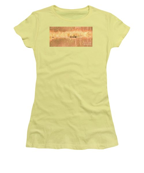 Women's T-Shirt (Junior Cut) featuring the photograph Mirrored Reflection by Laurinda Bowling