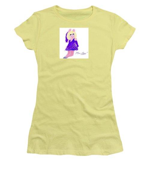 Miss Piggy Women's T-Shirt (Junior Cut) by Susan Garren