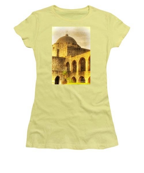 Mission San Jose San Antonio Texas Women's T-Shirt (Athletic Fit)