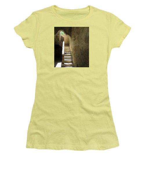 Mission Stairway  Women's T-Shirt (Athletic Fit)