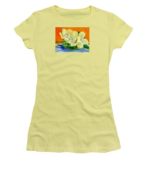Mississippi Magnolias Women's T-Shirt (Junior Cut) by Jeanette Jarmon