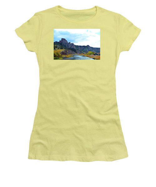 Missouri River Colors Women's T-Shirt (Athletic Fit)