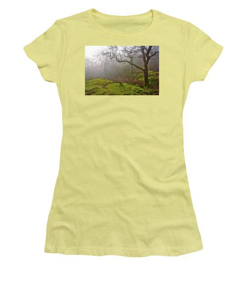 Misty Forest Women's T-Shirt (Junior Cut) by Keith Boone
