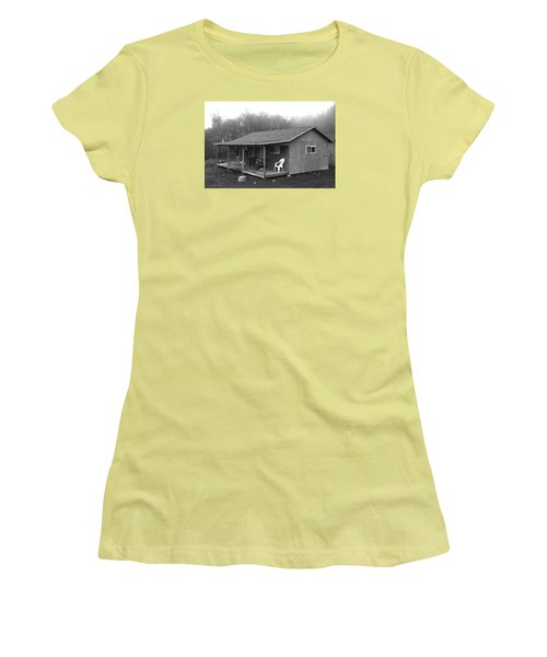 Misty Morning At The Cabin Women's T-Shirt (Athletic Fit)