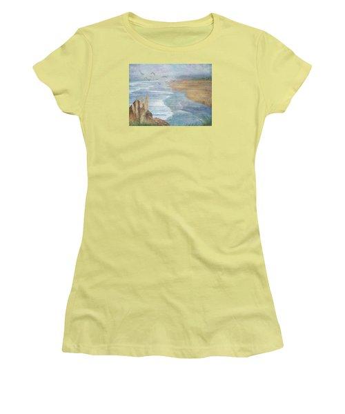 Misty Retreat Women's T-Shirt (Junior Cut) by Christina Lihani