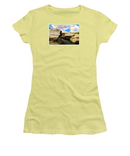 Women's T-Shirt (Junior Cut) featuring the photograph Mlk 1 by David Norman