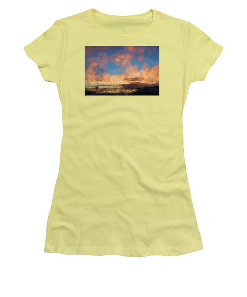 Moab Sunrise Abstract Painterly Women's T-Shirt (Junior Cut) by David Gordon