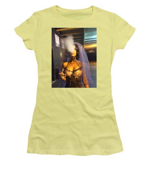 Women's T-Shirt (Junior Cut) featuring the photograph Model Vaper by Lisa Piper