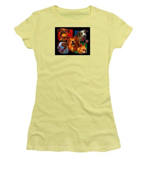 Modern Dog Art - 0001 Women's T-Shirt (Athletic Fit)