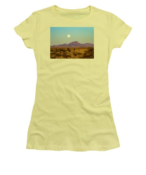 Mohave Desert Moon Women's T-Shirt (Athletic Fit)