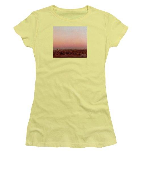 Mojave Sunset Women's T-Shirt (Junior Cut) by Walter Chamberlain