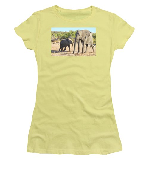 Women's T-Shirt (Junior Cut) featuring the photograph Mom And Baby by Betty-Anne McDonald