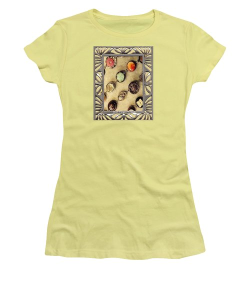 Women's T-Shirt (Junior Cut) featuring the mixed media Moments In Time Bracelet Art by Heidi Walkush