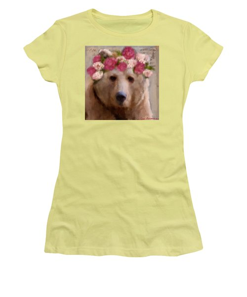 Women's T-Shirt (Junior Cut) featuring the digital art Momma Bear by Lisa Noneman
