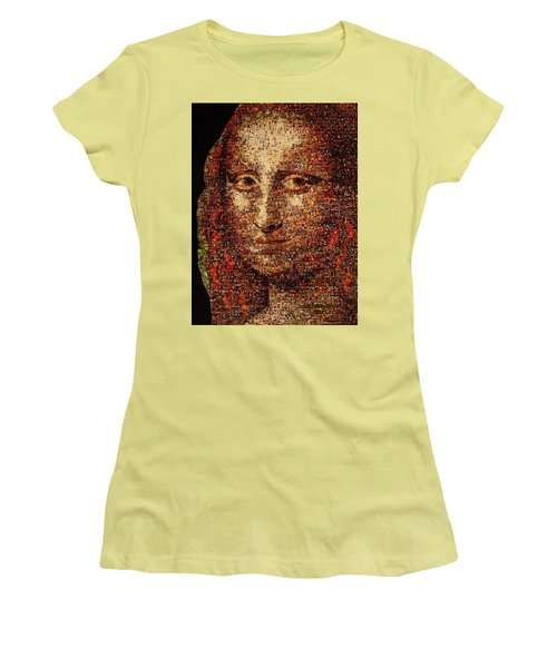 Mona Lisa Women's T-Shirt (Athletic Fit)