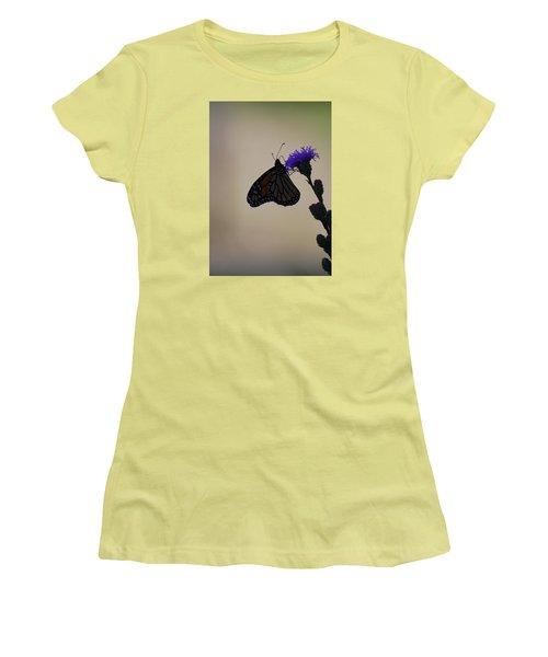 Women's T-Shirt (Junior Cut) featuring the photograph Monarch Beauty by Ramona Whiteaker